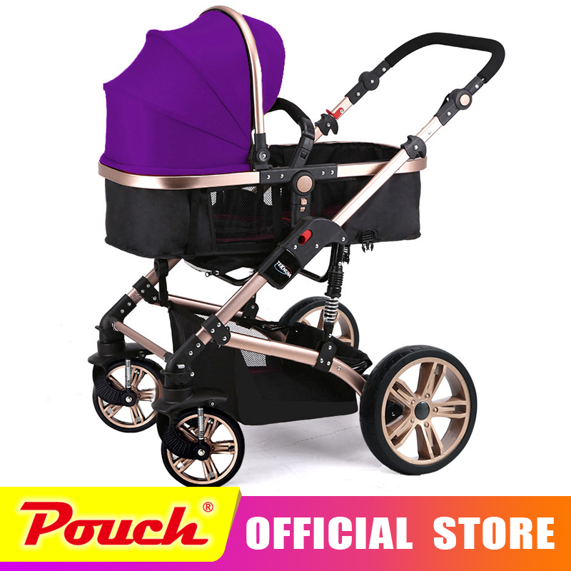 TEKNUM baby stroller high landscape can sit or lie winter children's baby carriage free delivery to Russia luxury baby stroller high landscape baby carriage for newborn infant sit and lie four wheels