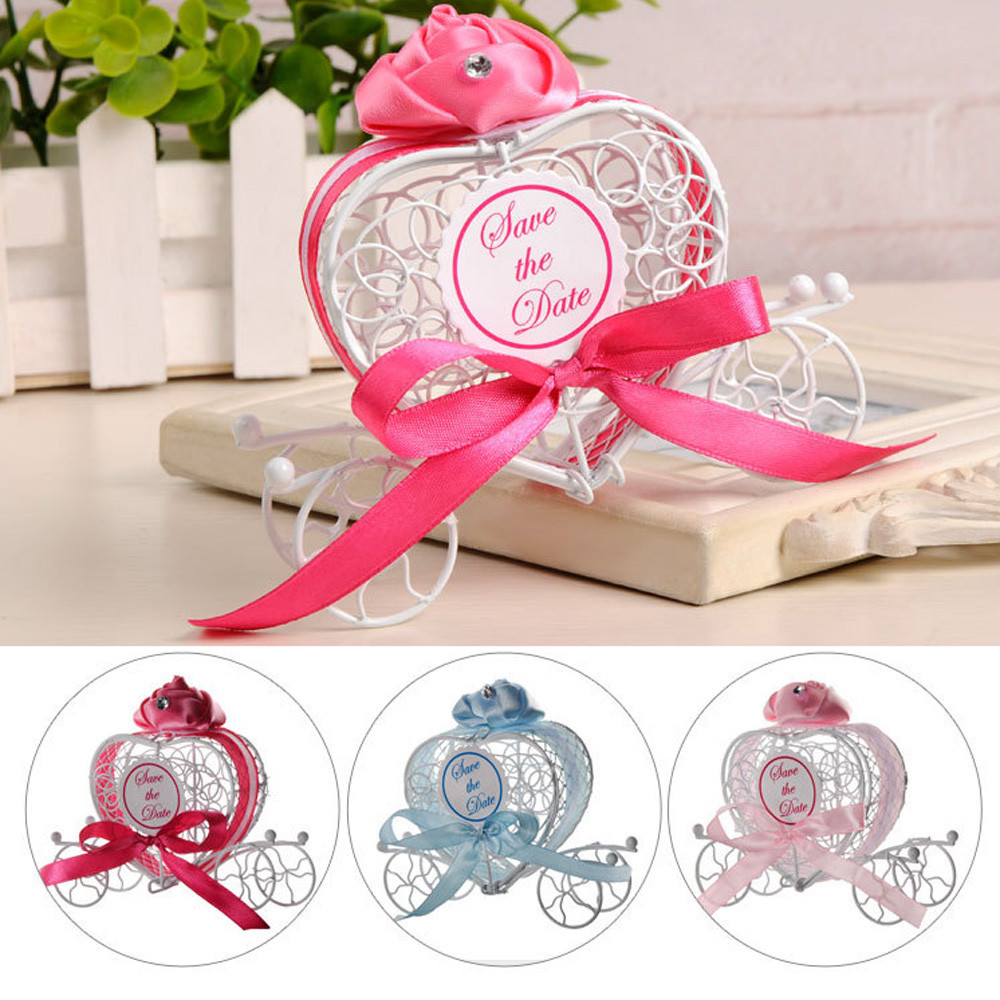Organizer Storage-Tools Chocolate-Box Carriage Wedding-Party-Favors Gift 1pc Romantic