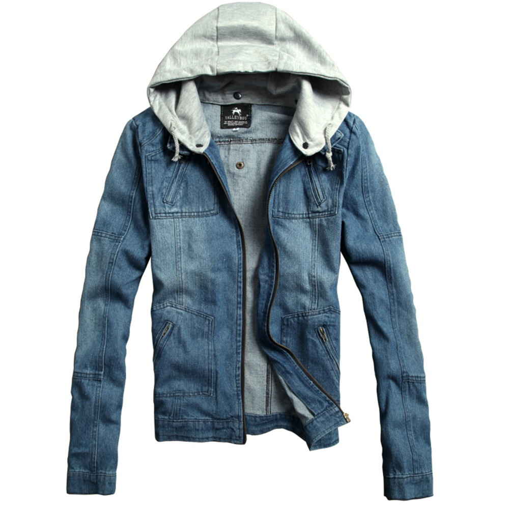 Mens Jean Jacket With Hood CAIfzL