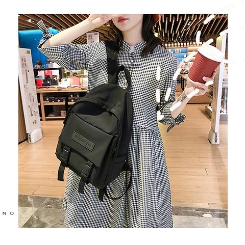 HTB1NveRXp67gK0jSZPfq6yhhFXaX 2019 Backpack Women Backpack Fashion Women Shoulder Bag solid color School Bag For Teenage Girl Children Backpacks Travel Bag