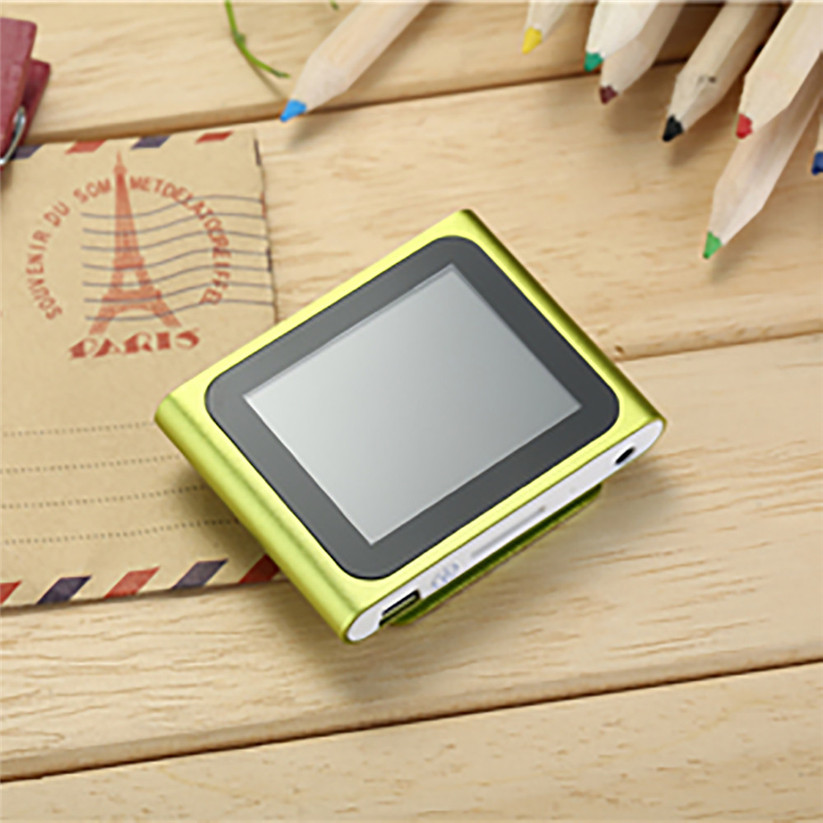 CARPRIE MP4 Players LCD Screen 6th Clip Mp4 Player FM Radio Video Games Movie Support Micro SD TF td0517 dropship