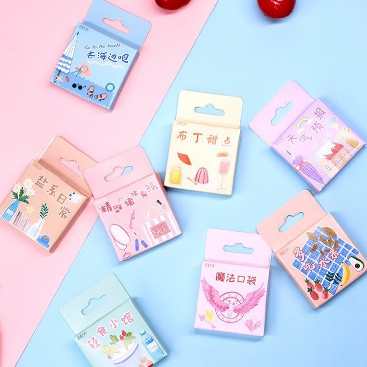 45PCS/box New Salt Life Hall Series Paper Lable Sealing Stickers Crafts Scrapbooking Decorative Lifelog DIY Stationery