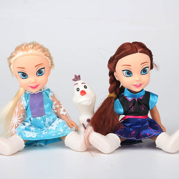 2017 2pcs Princess Anna Elsa Dolls For Girls Toys Princess Anna Elsa Dolls For Girls Toys 16cm Small Plastic Baby Dolls Congelad 4
