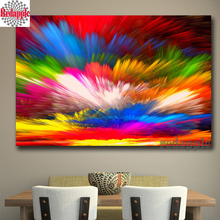 Full square drill Diamond embroidery diy diamond Painting Rainbow Colorful clouds Splash Cross Stitch Rhinestone Mosaic abstract