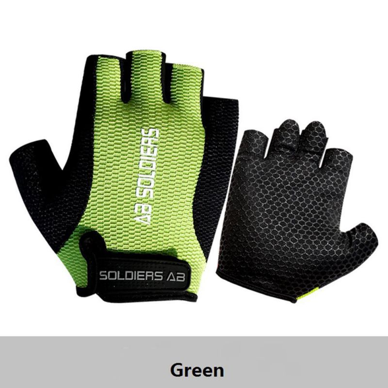 One size Cycling Gel Half Finger Gloves Breathable For kids Finger Protective AB