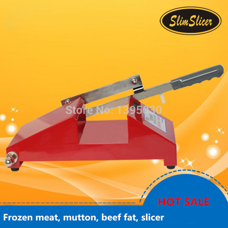 Newest! Frozen meat, mutton, beef fat, slicer HL-121E mini frozen meat processor household mutton beef fat slicer in hot sale color red