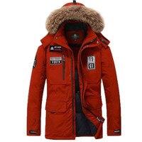 Clearance Winter Jacket Men Parkas 80% White Duck Down Jacket Men Parka Jackets Thick Warm Windbreaker Parka Fur Hooded Collar M 3XL