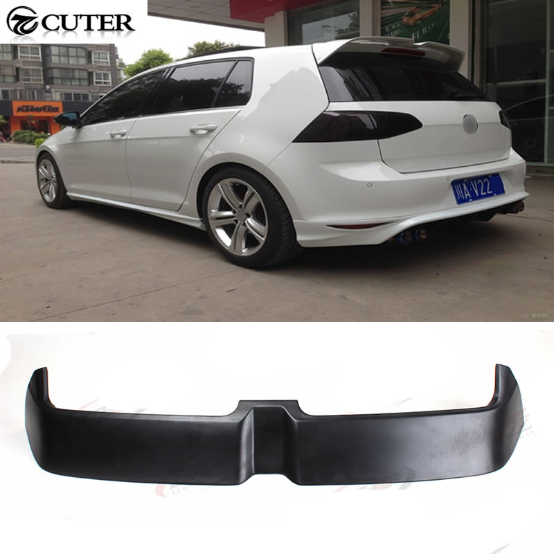 Golf 7 MK7 O styling FRP Car Rear Roof Boot Lip Spoiler Wing for Volkswagen VW Golf 7 MK7 GTI & R 2014UP