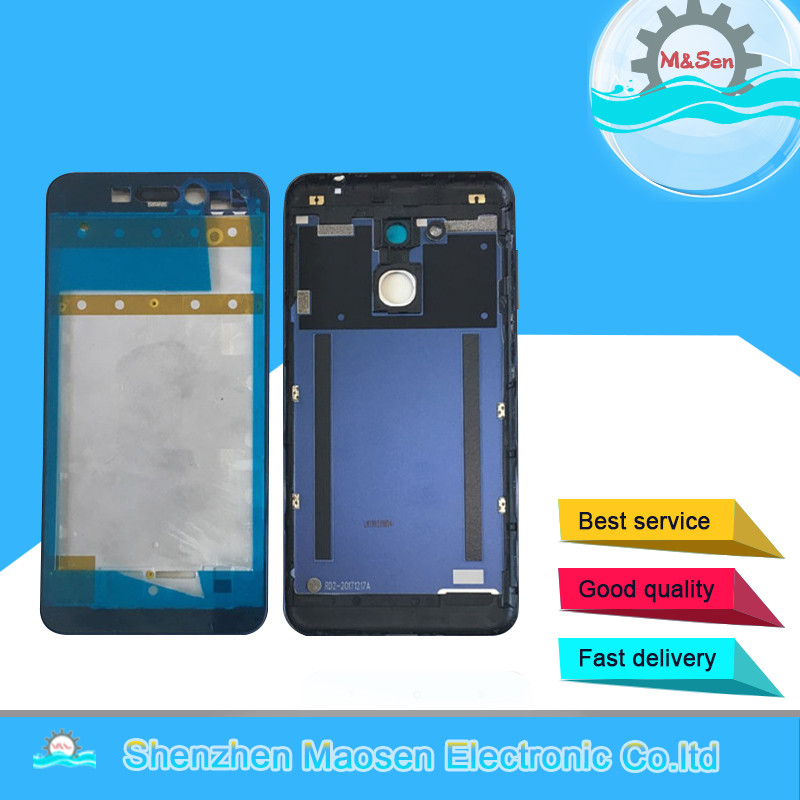 M&Sen For 5.2 Huawei Honor 6C Pro JMM-L22 Front Middle frame +Battery Cover Back Rear Housing+Power Side keys No Camera lensM&Sen For 5.2 Huawei Honor 6C Pro JMM-L22 Front Middle frame +Battery Cover Back Rear Housing+Power Side keys No Camera lens