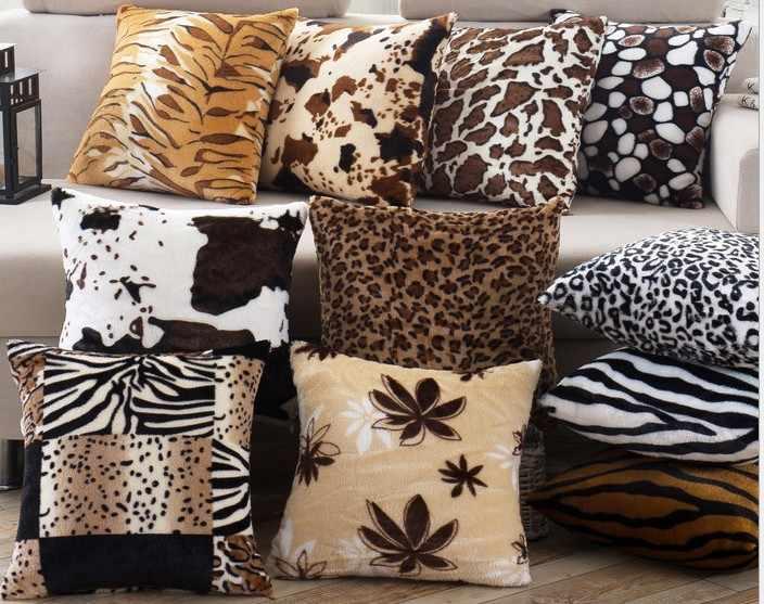 Groovy Decorative Cushions Cover 43X43Cm Throw Pillows Leopard Zebra Tiger Giraffe Velvet Fabric Seat Home Chair Pillowcase Cover B46 Uwap Interior Chair Design Uwaporg