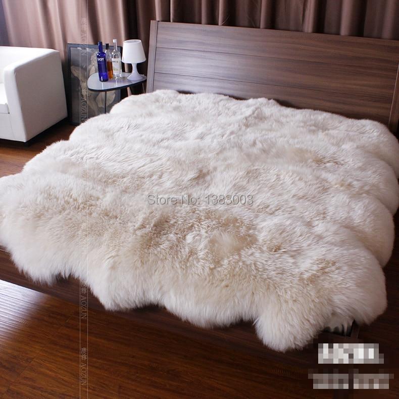220 260cm Australian Lamb Fur Blanket Mattress Sheepskin Bed Pad Sheep Skin Rug 10p In Blankets From Home Garden On Aliexpress