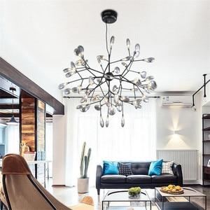 Image 5 - Lampe suspendue suspendue en forme de luciole, en noir et en or, design moderne, luminaire dintérieur, luminaire dintérieur, luminaire dintérieur, livraison directe