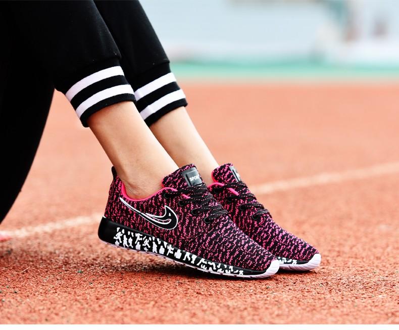 Newest Men Women Running Shoes,Light Weight Mesh Sports Shoes,Flat Jogging Sneakers Walking Shoes -Pink (1)