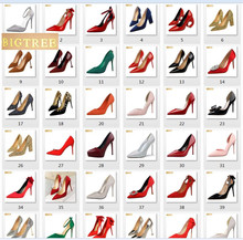 103 style BIGTREE women pumps 618 color 9.5CM 10CM 10.5CM wedding PU leather Thin high heel Pointed Toe womens shoes