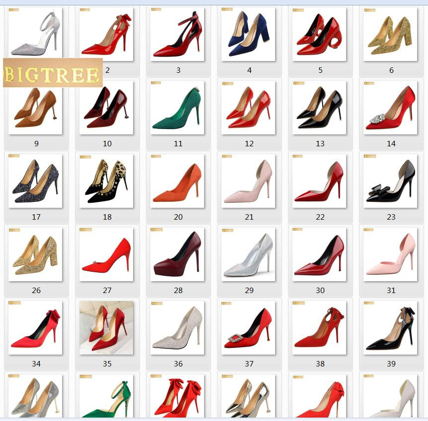 103 style BIGTREE women pumps 618 color 9.5CM 10CM 10.5CM wedding PU leather Thin high heel Pointed Toe women's shoes