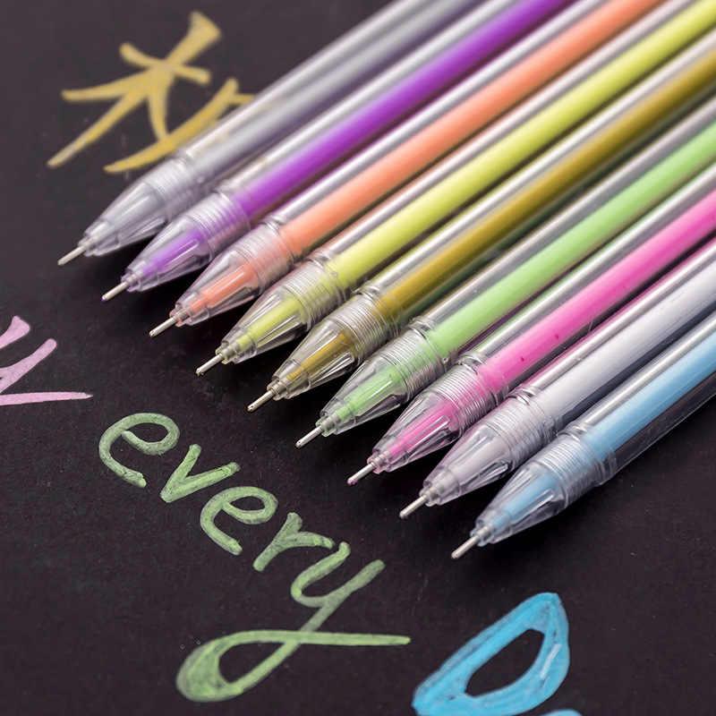 0.6 مللي متر طابعة بحبر أبيض اللون ألبوم صور هلام القلم القرطاسية مكتب التعلم لطيف سكرابوكينغ القلم للجنسين قلم هدية للأطفال