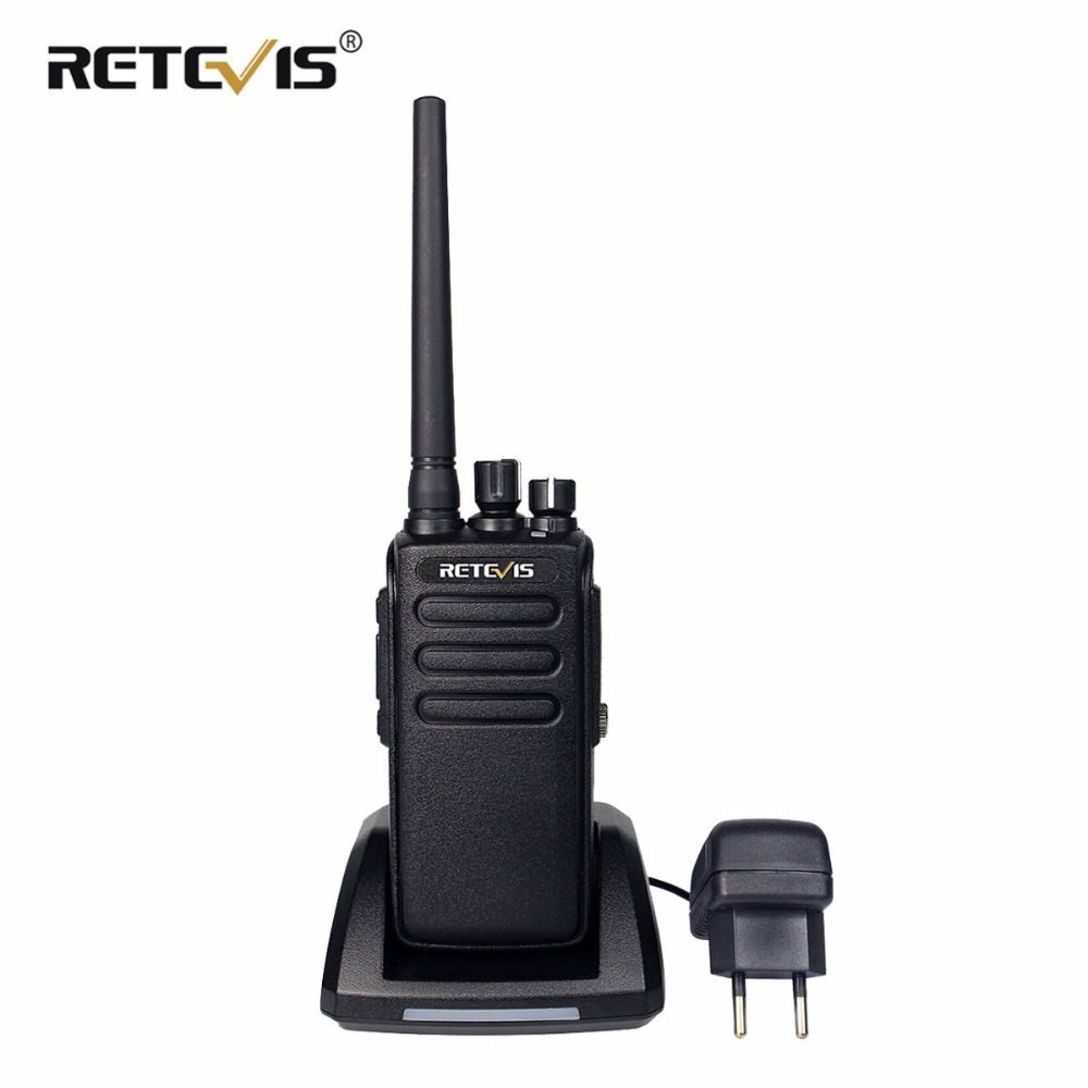 10 W DMR Radio Retevis RT81 Kuat Walkie Talkie IP67 Tahan Air UHF VOX Enkripsi Jarak jauh 2 Way Hf Radio Berburu / Hiking