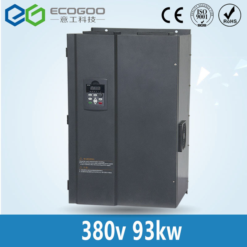 цена на 93KW/3 Phase 380V/170A Frequency Inverter-Free Shipping vector control 93KW Frequency inverter/ Vf 93KW