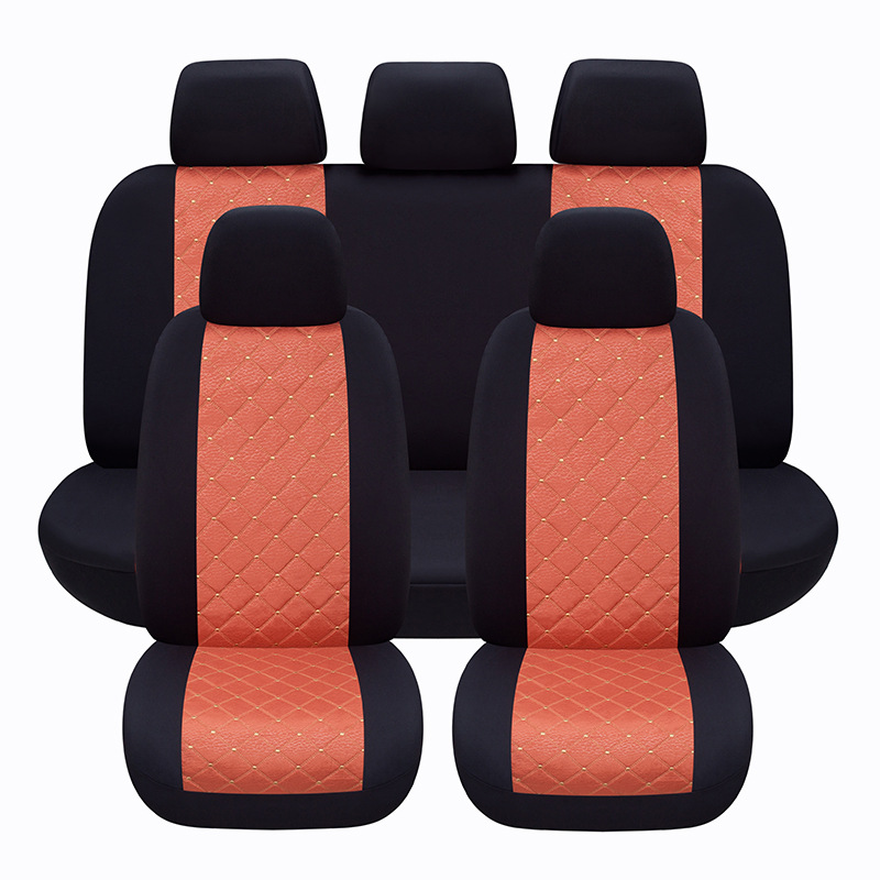 Car Seat Cover Protector Interior Decoration Accessories Universal Covers Black Red For Lada Kalina Granta Priora
