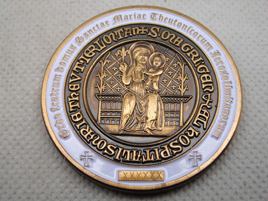 Cheap Custom coins High quality U S military challenge coin hot sales teutonic cavalry challenge coin low price coin FH810197 in Non currency Coins from Home Garden