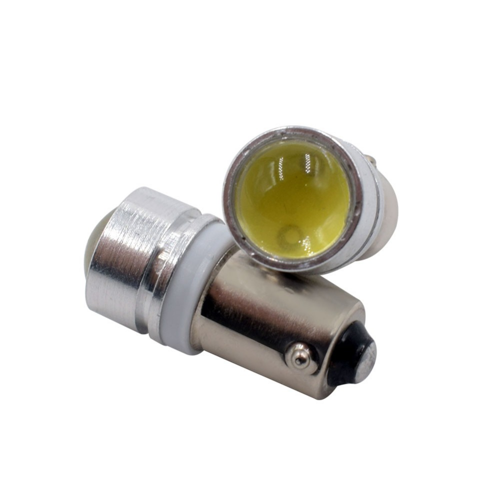 50XFree shipping Car Auto LED BA9S 6523 1895 H6W T4W 1.5W with lens Wedge LED Light Bulb Lamp White