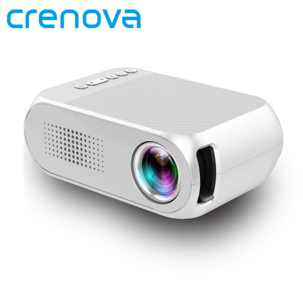 Crenova 2018 New Smart Home Cinema Projector For Mobile Phone USB HDMI 320 x 240 Pixel 600 LM Mini Led Projector Full Hd 1080p