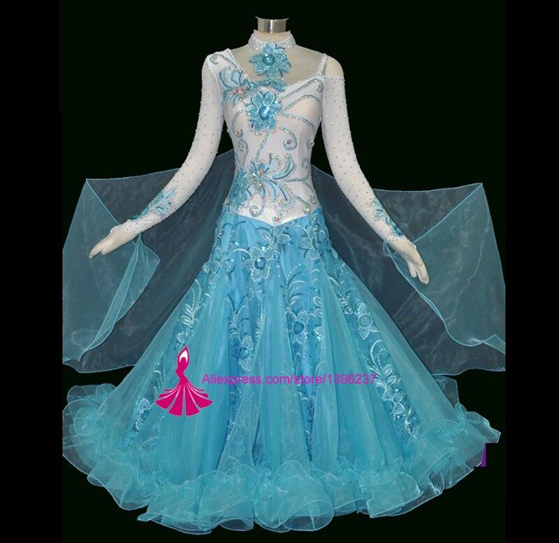 ballroom dance dress high quality Ballroom Competition Dance Dress Modern Waltz Tango Standard