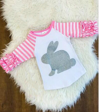 Toddler Girl Easter Bunny Ruffle Shirt