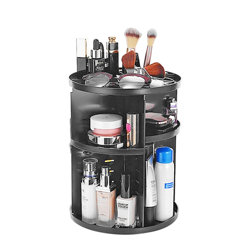 360-grad Rotary Make-Up Veranstalter Bilden Kosmetischen Organizer Frauen Schlafzimmer Schreibtisch Schmuck Lippenstift Container Halter