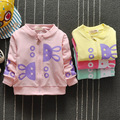 Новые поступления Мода baby дети девушки Мультфильм кролик о-образным вырезом Пальто Детей И Пиджаки девушки толстовки куртки