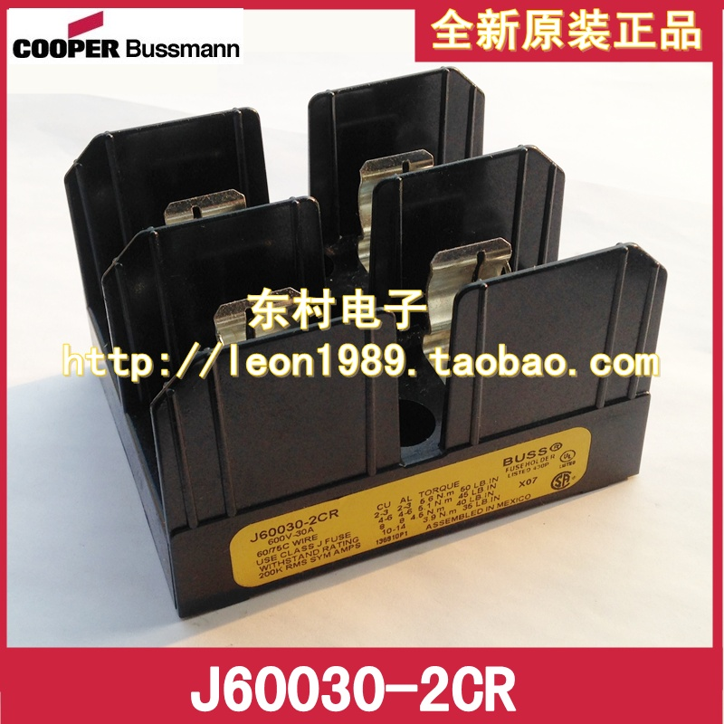 [SA]United States BUSSMANN fuse holder J60030-2CR J60030-2COR 30A 600V fuse holder 40a blade contact fuse link base holder nt00 500v 120ka 660v 50ka