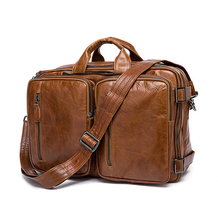 Multi functional leather backpack free shipping