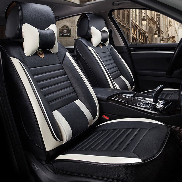 Leather Universal Car Seat Cover Front Rear Automobiles Seats Covers For Fiat Panda Grande