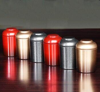 Mini Tea Box Portable Quality Tin Cans For Coffee Cookie Organizer Kitchen Storage Jar Pot Metal Iron Sealed Container 12pcs/lot 3