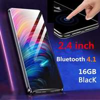 2.4 Inches bluetooth~ 2.5D Double Curved Screen 16G/8G MP3 MP4 Player Touch Screen HIFI Radio Music Player Black/Blue