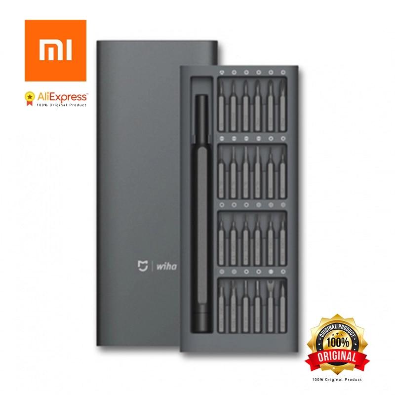 Original Xiaomi Mijia Wiha Daily Use Screwdriver Kit 24 Precision Magnetic Bits Alluminum Box Screw Driver xiaomi smart home Kit цены