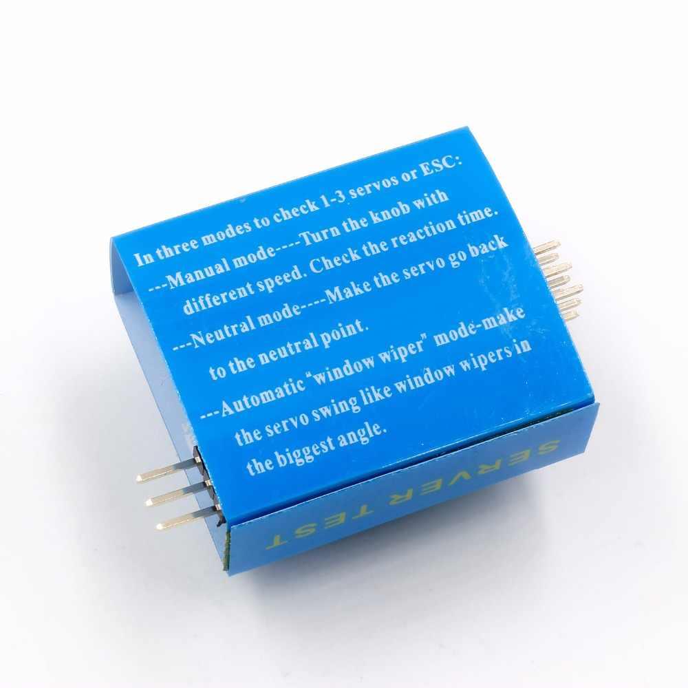 Comprobador de varios servos 3CH ECS congruencia control de velocidad canales de alimentación medidor CCPM