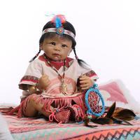Nicery 20 22 дюймов 50 55 см кукла новорожденного ребенка Индийский стиль Мягкий Силиконовый мальчик девочка реборн Детская кукла игрушка подарок