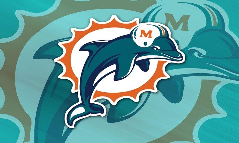 ᗖMiami Dolphins Рамс логотип команды спортивные баннеры ...