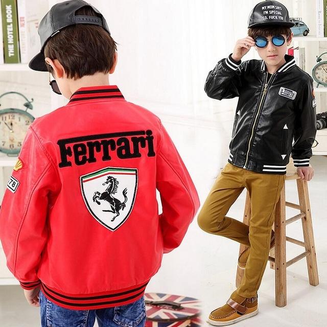 Leather Ferrari Jacket For Children