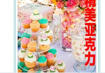 4 tier of acrylic frame dessert tray Sweet new decoration wedding birthday party supplies acrylic cupcake stand decoration