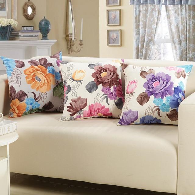 Korean Garden Fabric Sofa Pillow Super Soft Velvet Cushions New Large Square  Pillow Bed Backrest