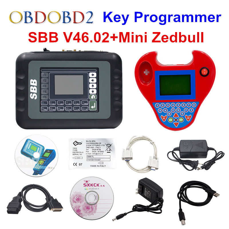 Full Set V46.02 SBB + Mini Zedbull Key Programmer Mini Zed-bull Key Transponder Same Function As CK100 46.02 Key Maker Free Ship women plus size tankini set navy blue floral bathing suit sexy triangle bottom bikini push up swimwear female tankini swimsuit