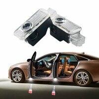 2 x LED Door Warning Light Projector Logo Ghost Shadow For Audi A3 A4 B6 B8 B7 A6 C6 C5 A7 A8 A5 Q3 Q7 Q5 80 TT Sline