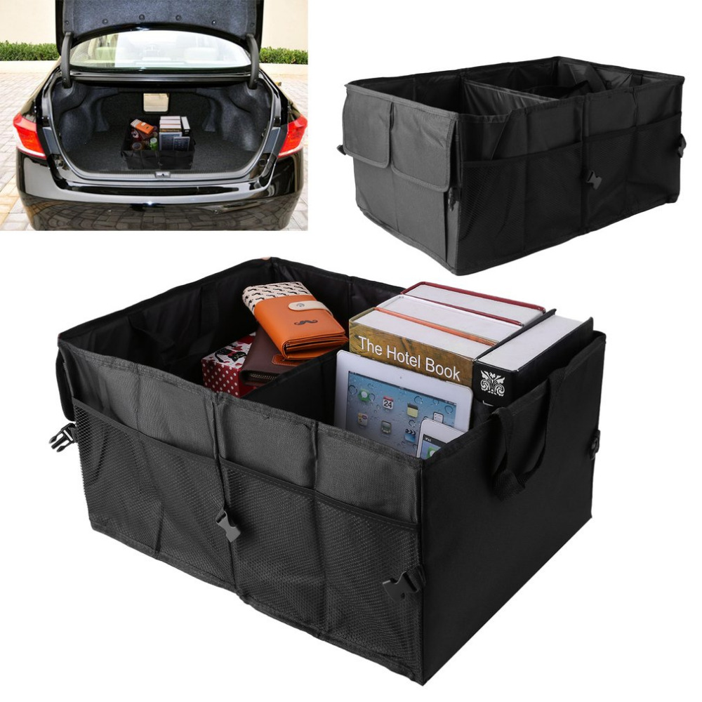 Folding Car Back-Up Storage Box Trunk Bag Container Vehicles Toolbox Multifunctional Organizer Styling Auto Accessories car trunk storage bag oxford cloth folding truck storage box car trunk tidy bag organizer storage box with cooler bag