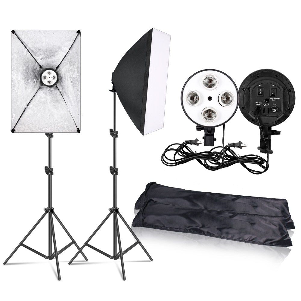 Softbox-Kit Camera-Accessories 50x70cm-Lighting Four-Lamp Photo-Studio Photography