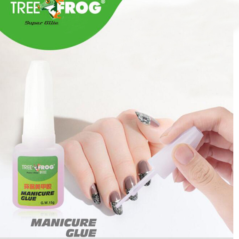 Tree Frog High Quality 15g NAIL GLUE With Brush Paste For False French Tips Nail Art  Nails Care Product Nail Decoration Glue