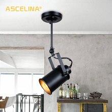 Lámpara colgante industrial Vintage lámpara de loft focos lámpara colgante americana lámpara LED restaurante Café bar Decoración