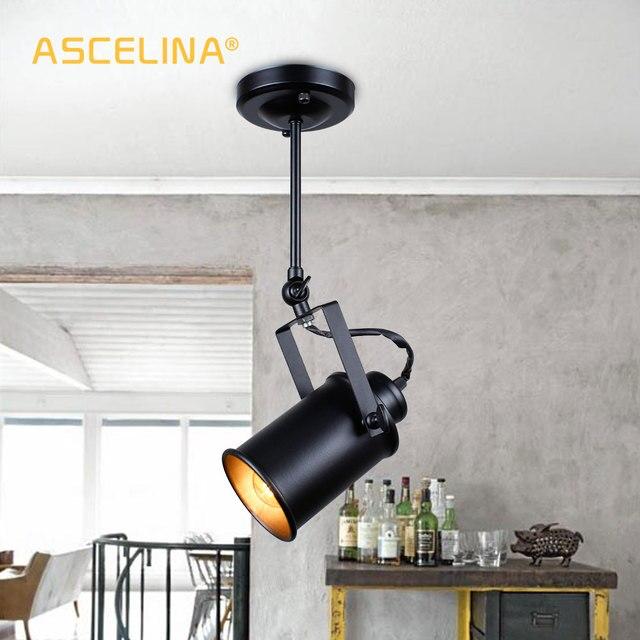 جديد الصناعية قلادة ضوء Vintage Loft قلادة ضوء الأضواء الأمريكية قلادة مصباح LED مصباح مطعم مقهى زخارف للحانات