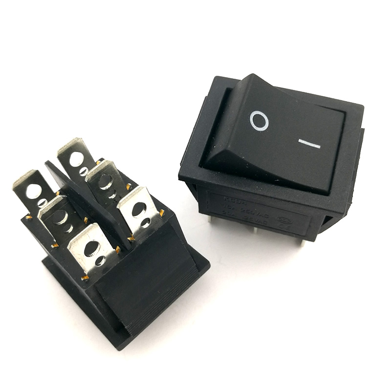 H013-01 2pcs/lot Boat Rocker Switch 16A 250V AC / 20A 125V AC SPDT 6 pin ON-OFF Snap in 31*25mm Free shipping yellow led on off rocker switch w terminal protector set for electric appliances 2 pcs